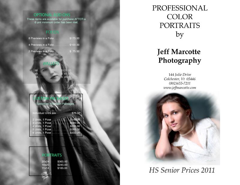 High School Price List 1 | Vermont Wedding Photographer, Family